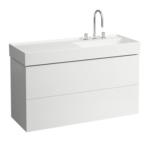 Grey Blue Vanity Unit with two drawers for washbasin shelf right 813332 (incl. organiser)