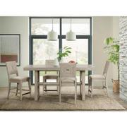 Cascade - Upholstered Wood Back Counter Stool - Dovetail Finish Product Image