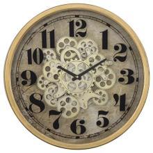 See Details - Gold Round Gear Clock