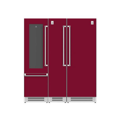 "Hestan - 72"" Wine Refrigerator (L), Column Freezer and Refrigerator ® Ensemble Refrigeration Suite - Tin-roof"