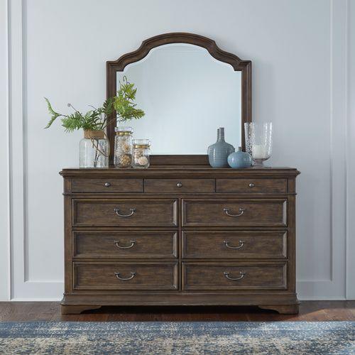 Queen Panel Bed, Dresser & Mirror, Chest