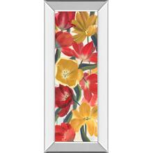"""Tulip Array Panel I"" By Sandra Iafrate Mirror Framed Print Wall Art"