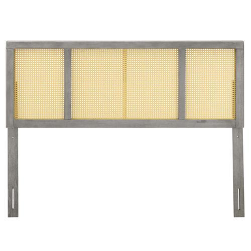 Modway - Delmare Cane King Headboard in Gray