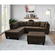 9128 Linen Sectional Sofa - LEFT