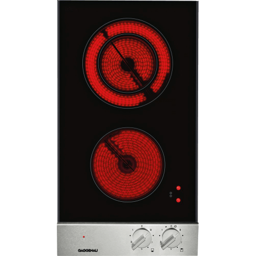 Gaggenau - 200 series Vario 200 series electric cooktop Stainless steel control panel Width 12 ''