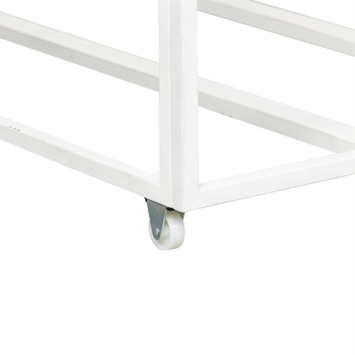 Twin Metal Trundle - Antique White
