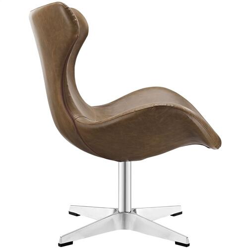 Modway - Helm Lounge Chair in Brown