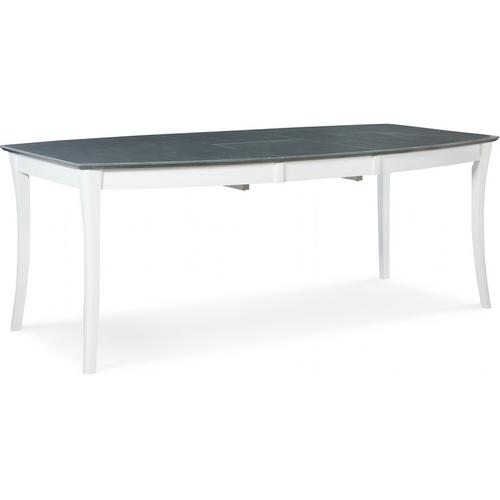 Salerno Butterfly Extension Table in Heather Gray & White