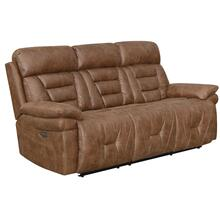 Brock Dual-Power Reclining Sofa, Cinnamon