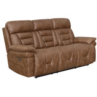 See Details - Bedford Dual Power Reclining Sofa, Cinnamon