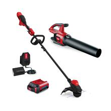 60V MAX* Electric Battery String Trimmer / Leaf Blower Combo Kit (51881)