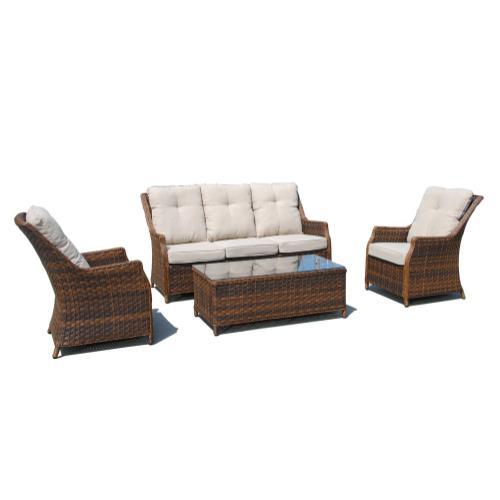 Jessica Wicker Alum Sofa Seat Grp w/Sunbrella cush