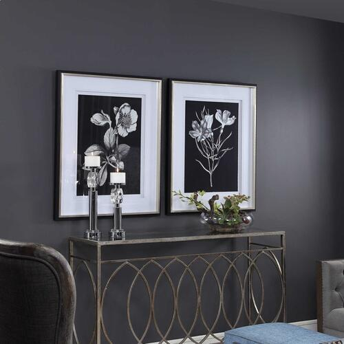 Black & White Flowers Framed Prints, S/2