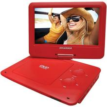 9-Inch Portable DVD Player with 5-Hour Battery (Red)