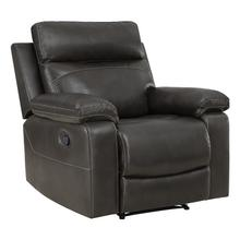 See Details - Bryson Recliner With Charcoal Faux Leather