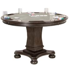 See Details - Vegas Dining and Poker Table - Gray Wood