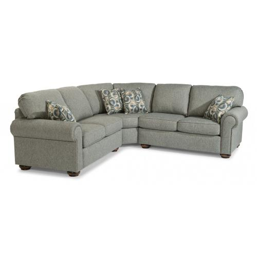 Presley Fabric Sectional with Nailhead Trim