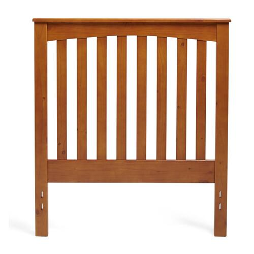 Twin Rake Style Headboard in Golden Oak Finish