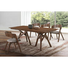 Cortina Jackie 5 Piece Walnut Dining Set