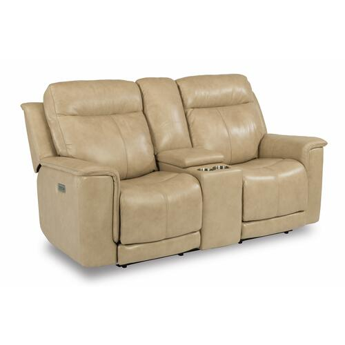 Flexsteel - Miller Power Reclining Loveseat with Console and Power Headrests and Lumbar