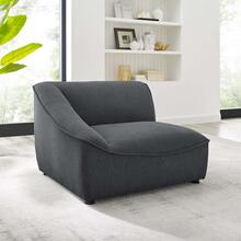 Comprise Left-Arm Sectional Sofa Chair in Charcoal