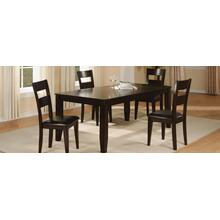 "Hardy Table with 6 Side Chairs 1289-5418 - Side Board, 54""L X 18""D X 36""H 1289-322-BEN - Bench, 51""L X 15""D X 19""H"