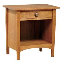 Cherry With Curly Maple Drawer Fronts Open Night Stand