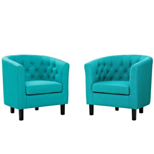 Prospect 2 Piece Upholstered Fabric Armchair Set in Pure Water