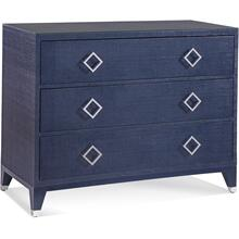 Clarendon Three Drawer Chest in Navy
