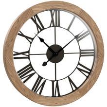 "15"" Round Wood Wall Clock"