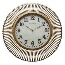 See Details - Munich in Antique Gold Wall Clock