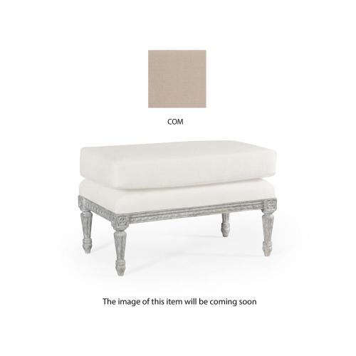 Footstool upholstered in COM