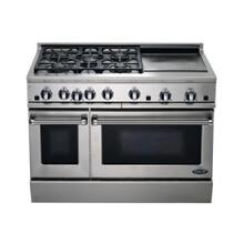 "48"" All Gas, 5 Burner, Griddle"