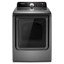 7.3 cu. ft. King-size Capacity Electric Front Load Dryer (Stainless Platinum)