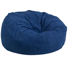 Oversized Denim Bean Bag Chair for Kids and Adults