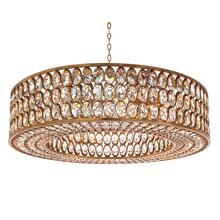 Stately Crystal Gold-Leaf Pendant