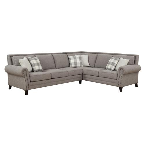 Emerald Home Willow Creek Sectional Sofa Pebble Brown U4120-11-13
