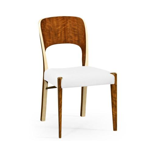 Hyedua and Ivory Side Chair, Upholstered in COM