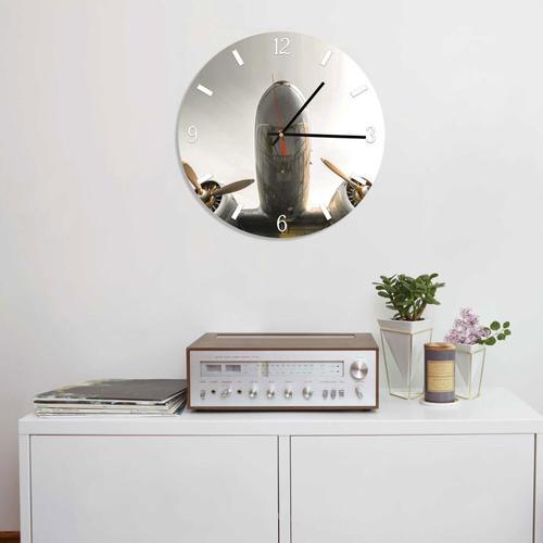 Grako Design - Airplane Round Square Acrylic Wall Clock