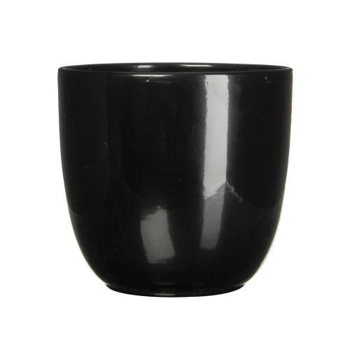 Tusca Round Planter Gloss Black (min.4pcs)