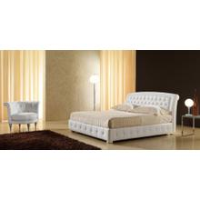Modrest 1106 Modern White Bonded Leather Bed