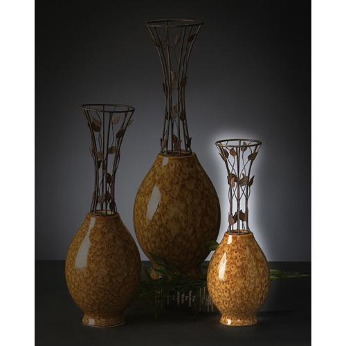 Product Image - Small Vine Metal & Ceramic Vase