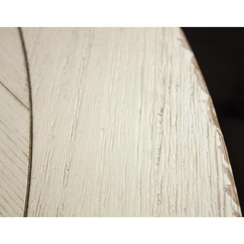 Riverside - Aberdeen - Round Dining Table Top - Weathered Worn White Finish