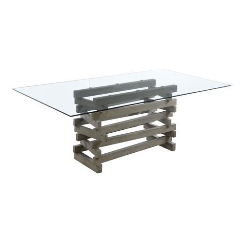 Emerald Home Jenga Glass Top for Rectangular Dining Table