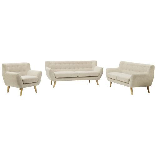 Modway - Remark 3 Piece Living Room Set in Beige