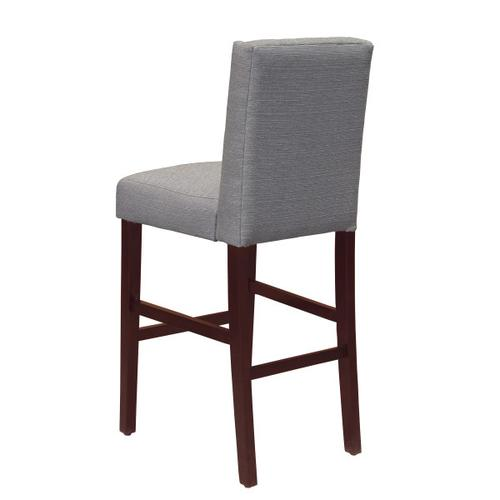 Shelter Wing Back Upholstered Barstool in Gray