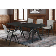 Cortina and Varde 5 Piece Black Rectangular Dining Set