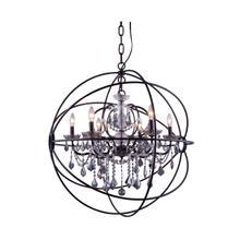 See Details - Geneva 6 light Dark Bronze Chandelier Silver Shade (Grey) Royal Cut crystal
