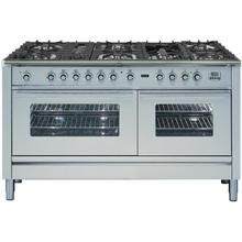 Professional Plus 60 Inch Dual Fuel Liquid Propane Freestanding Range in Stainless Steel with Chrome Trim