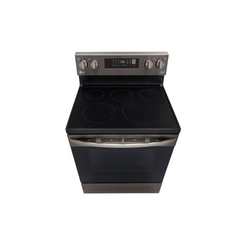 LG - 6.3 cu ft. Smart Wi-Fi Enabled Fan Convection Electric Range with Air Fry & EasyClean®